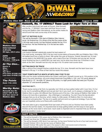 to download the full advance (PDF - Roush Fenway Racing