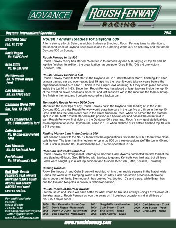 to download the full preview (PDF format) - Roush Fenway Racing