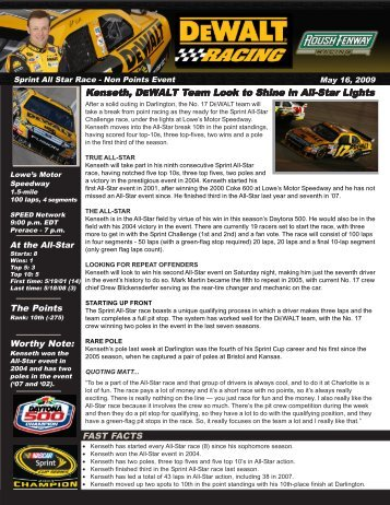 to download the full advance(PDF) - Roush Fenway Racing
