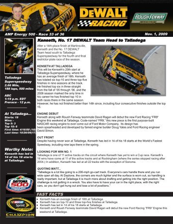 to download the full preview (PDF - Roush Fenway Racing