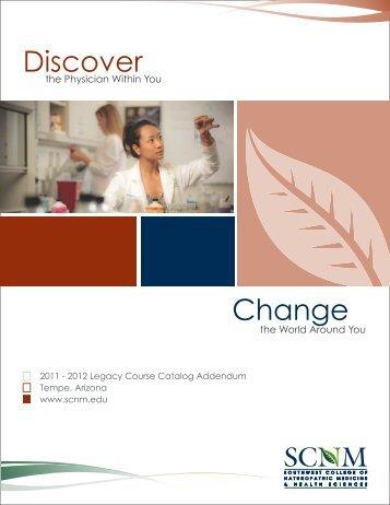 2011 - 2012 Legacy Course Catalog Addendum Tempe ... - SCNM