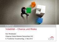 Volatilität – Chance und Risiko - Scoach Europa AG