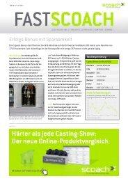 Erfolgs-Bonus mit Sparsamkeit - Scoach Europa AG