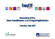 Innovative ETFs: Neue Assetklassen und Anlagemöglichkeiten