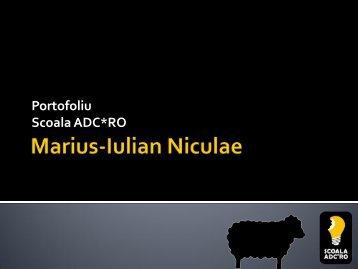 Niculae Marius-Iulian - Scoala ADC*RO