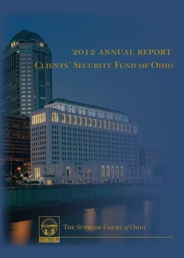 2012 annual report - Supreme Court - State of Ohio