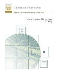 Commissioner Handbook - Supreme Court - State of Ohio