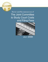 The Joint Committee to Study Court Costs and ... - Supreme Court