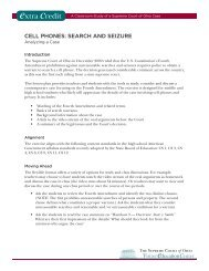 cell phones: search and seizure - Supreme Court - State of Ohio