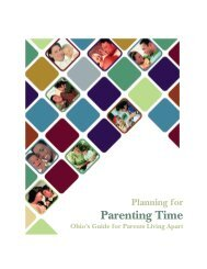 Planning for Parenting Time: Ohio's Guide for Parents Living Apart