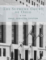 The Supreme Court of Ohio & The Ohio Judicial System