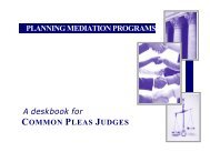 Planning Mediation Programs - Association of Family and ...