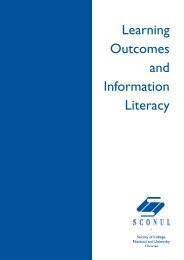 Learning Outcomes and Information Literacy - Sconul