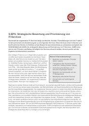 S-BPS: Strategische Bewertung und Priorisierung von IT-Services