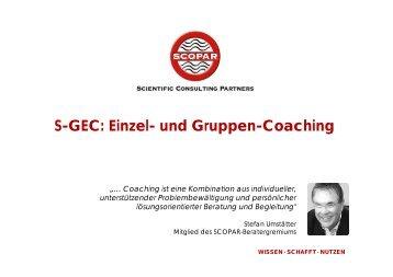 Einzel- und Gruppen-Coaching - SCOPAR - Scientific Consulting ...