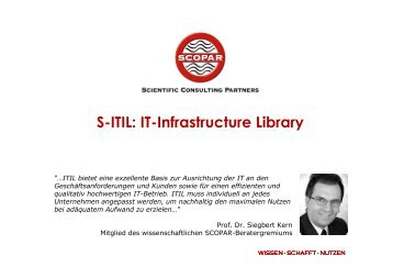 IT-Infrastructure Library - SCOPAR Scientific Consulting Partners
