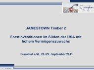 JAMESTOWN Timber 2 Forstinvestitionen im Süden der ... - Scope