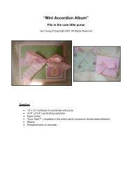 Print Mini Album Tutorial - PDF format - Scor-Pal!