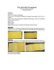 Flip (flat fold) Scrapbook - Scor-Pal!