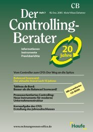 15 Jahre Balanced Scorecard - Forum Balanced Scorecard