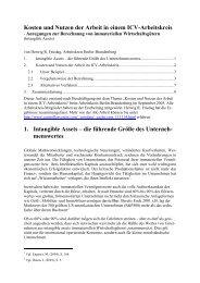 Kosten und Nutzen der Arbeit in einem ICV-Arbeitskreis - Forum ...