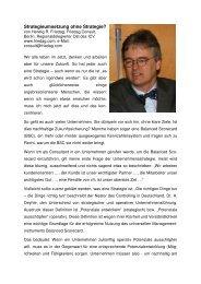 Strategieumsetzung ohne Strategie? - Forum Balanced Scorecard