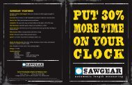 SAWGEAR® FEATURES - Scotchman Industries