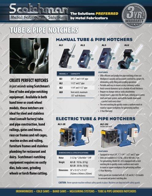 tUbe & pipe notChers - Scotchman Industries