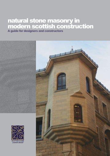 Natural Stone Masonry in Modern Construction - Scottish Government
