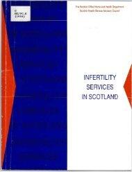 Infertility services in Scotland (1993) - Scottish Government