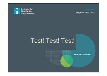 Test! Test! Test! - Brandon Bennett & Pat O'Connor