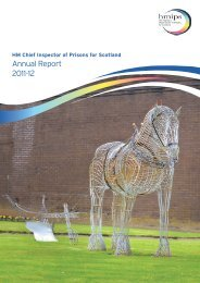HM Chief Inspector of Prisons for Scotland Annual Report 2011-12