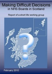 Dilemmas: difficult decisions in medical practice - Scottish Government