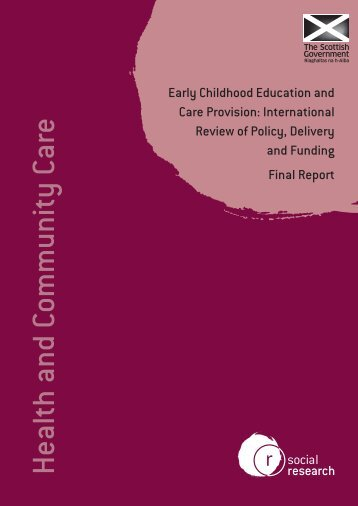 Early Childhood Education And Care Provision - Scottish Government
