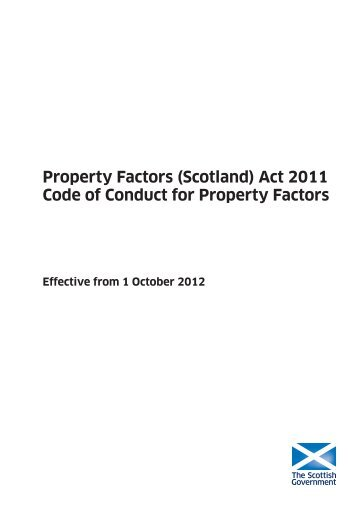 Code of Conduct for Property Factors - Scottish Government