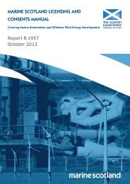 marine scotland licensing and consents manual - Scottish Government