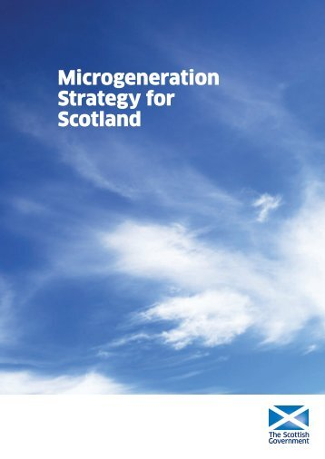 Microgeneration Strategy for Scotland - Scottish Government