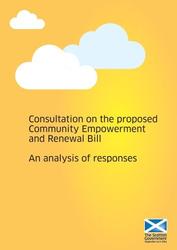 Consultation On The Proposed Community Empowerment - Scottish ...