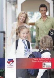 Parent Survey 2012 - Scots College