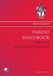 Parent Handbook 2011.indd - Scots College