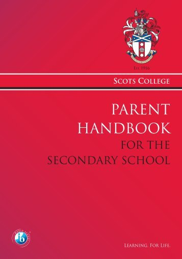 Parent Handbook 2011.indd - Scots College