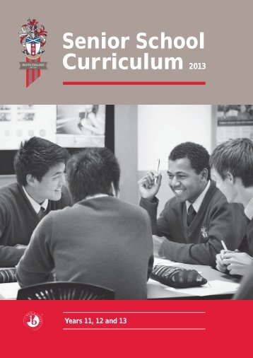Senior School Curriculum 2013 - Scots College