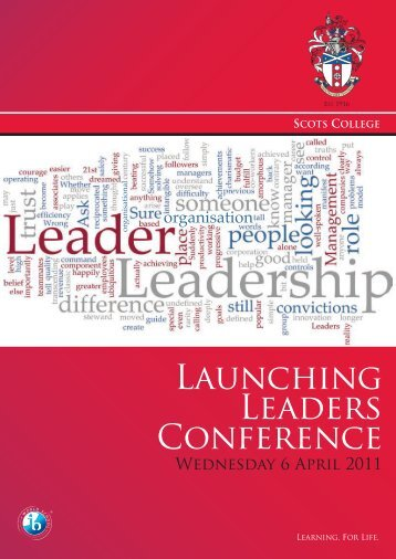 Launching Leaders Conference programme - Scots College