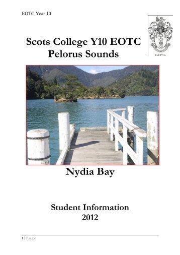 Scots College Y10 EOTC Pelorus Sounds Nydia Bay