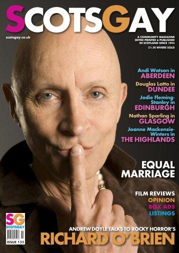 RICHARD O'BRIEN - ScotsGay Magazine