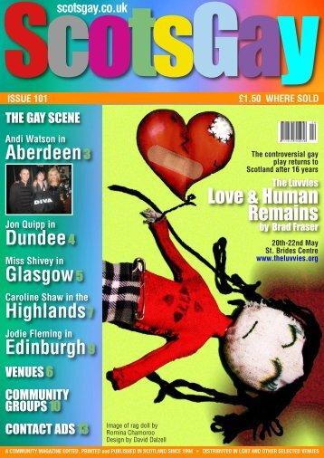 ScotsGay Issue 101 - ScotsGay Magazine