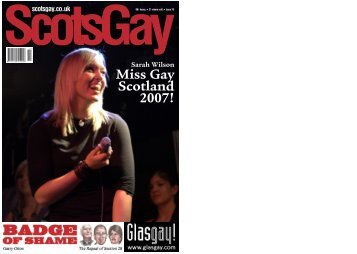 Miss Gay Scotland 2007! - ScotsGay Magazine
