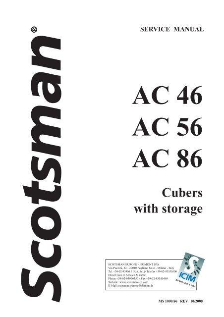 Scotsman ac 46 manuals.