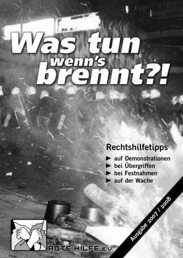 Was tun wenns brennt (pdf) - AStA Universität Bielefeld