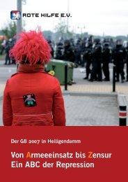 Der G8 2007 in Heiligendamm (pdf) - Rote Hilfe Greifswald